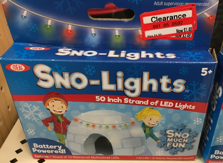 target read clear me snow lite