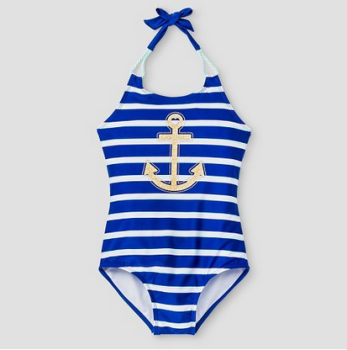 63e9c8905 target swim cat jack new g 2 · Girl's Striped Anchor One Piece Swimsuit