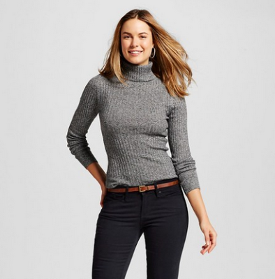 target w gray sweater turtle