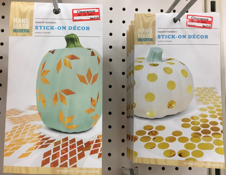 target weekly clear gold decor 50
