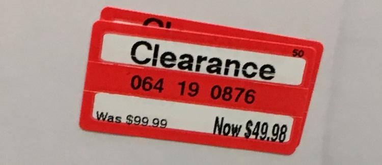 target weekly clear hamper tag