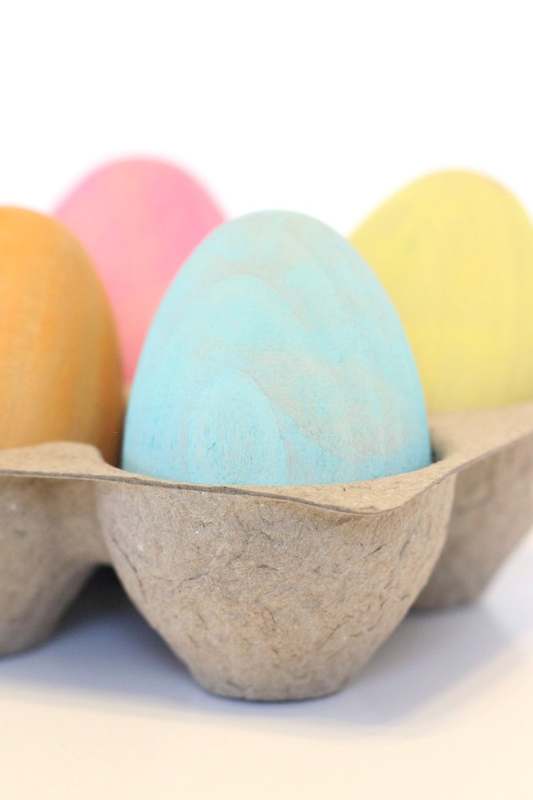 DIY Wooden Easter Eggs from Target Dollar Spot