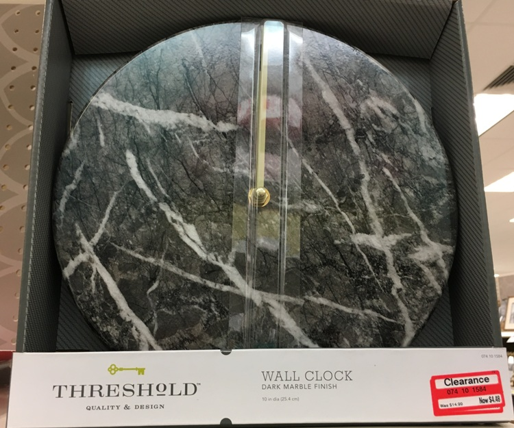 target w clear clock marble 70