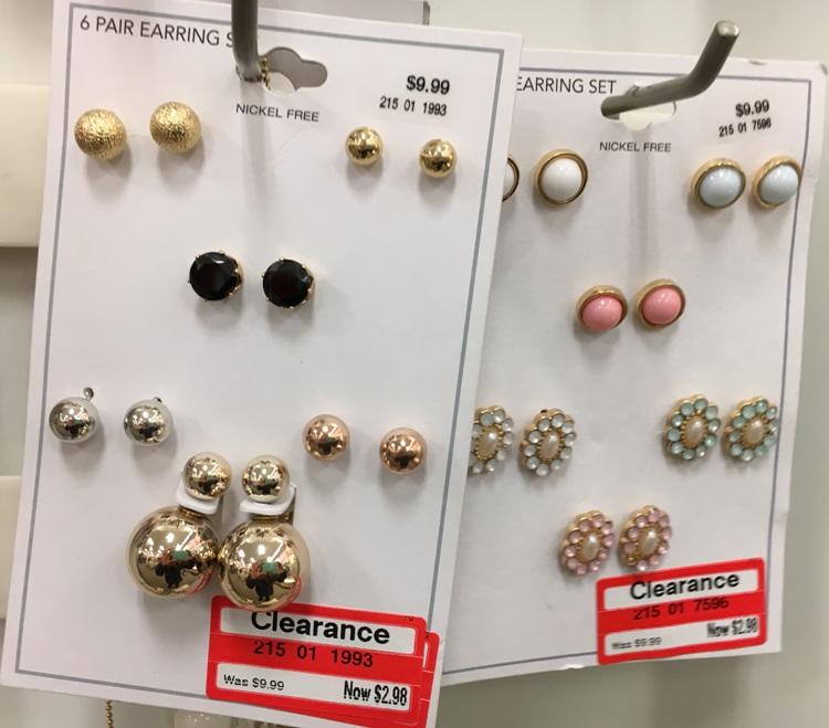 target w clear earring 70
