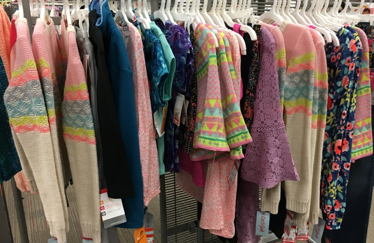 target w clear girls clothes 50