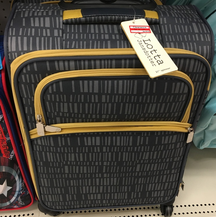 target w clear luggage 50