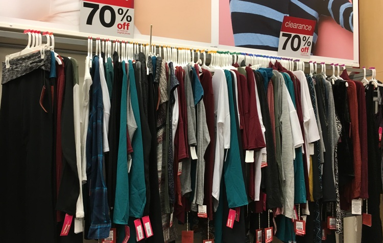 target w clear w clothes 70