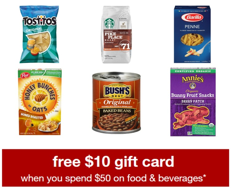 Target food beverage gift card all things target this week you can earn a 10 gift card with 50 food or beverage purchase at target no code needed great deal to stock up on some necessary grocery negle Choice Image