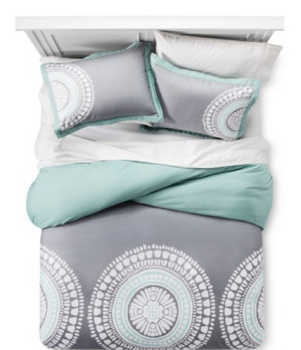 New Room Essentials Medallion Duvet Cover Set Full Queen reg