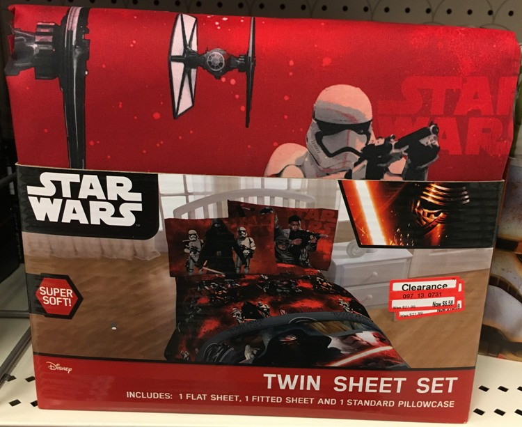 Ideal I found several Star Wars sheet sets marked down to off and priced at only reg Sunrise Puyallup