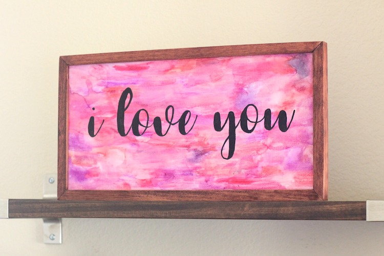 DIY Watercolor Word Art | Made With Target's Hand Made Modern Wood Frame Canvas