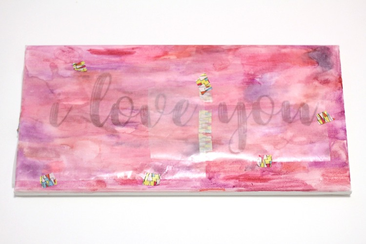 DIY Watercolor Word Art   Made With Target's Hand Made Modern Wood Frame Canvas