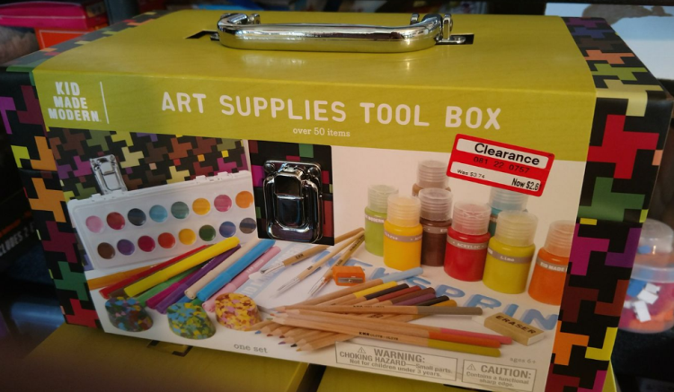 Kid Made Modern Art Supplies Tool Box
