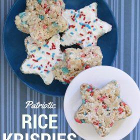 Patriotic Rice Krispies Stars