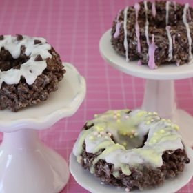 Cocoa Pebbles Donut Treats with Free Printable