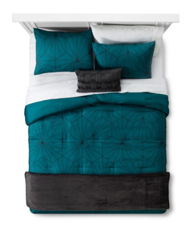 Inspirational Room Essentials Linework Geometric Comforter Set reg