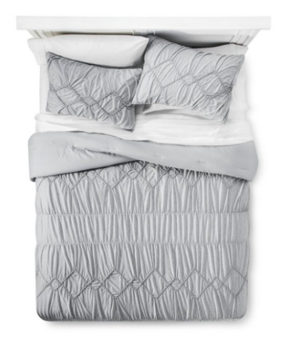 Fancy Xhilaration Solid Jersey Textured Comforter Set Full Queen reg