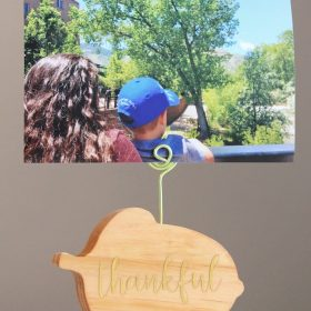 DIY Wood Acorn Photo Holder