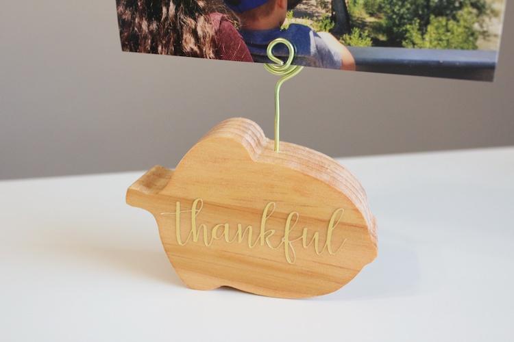 DIY Wood Acorn Photo Holder