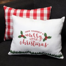 DIY Christmas Dish Towel Pillows