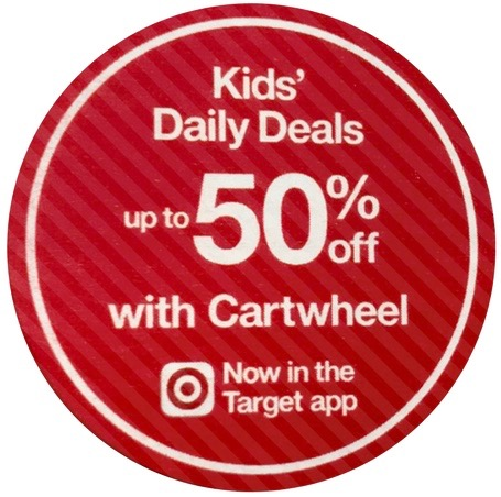 Target Kids Daily Deal Up To 50 Off Cartwheel Each Day All Things Target