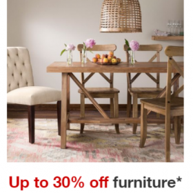 Extra 15% off Furniture Items + FREE Shipping & Handling
