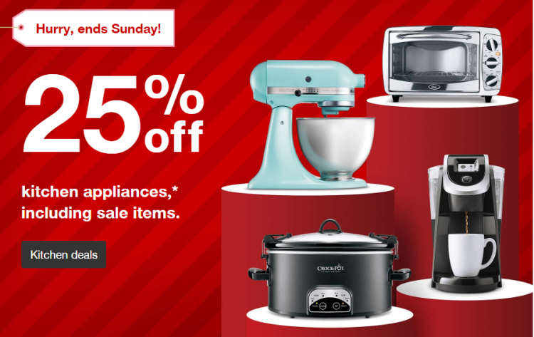 Target Com Is Taking  Off Kitchen Appliances Including Sale Items Through   There Is No Code Needed Discount Applied At Checkout