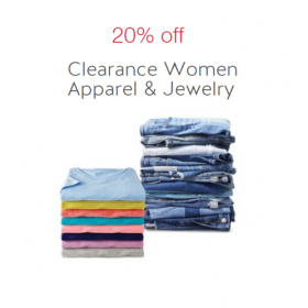 Extra 20% off Women's Clearance Apparel & Jewelry Cartwheel Offer