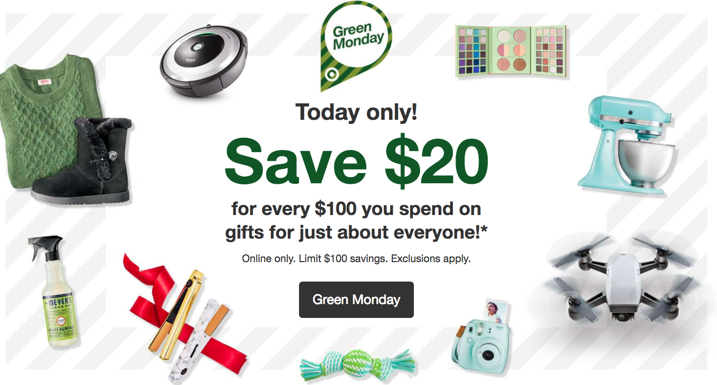 Target Green Monday Sale 2017 All Things Target