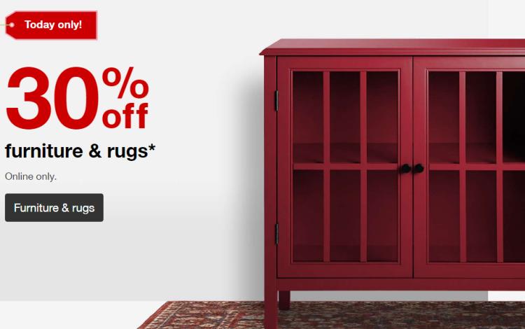 Target Furniture & Rugs Sale