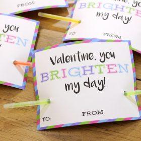 Glow Bracelet Valentine ~ Free Printable!