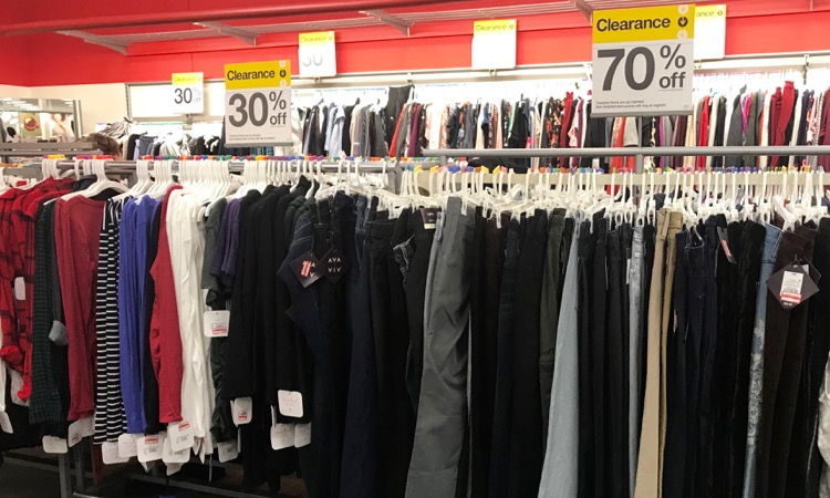57a8dfe96bfde Clothing Clearance: We should continue to see lots of the clothing in every  department marked down to 50 and 70% off.