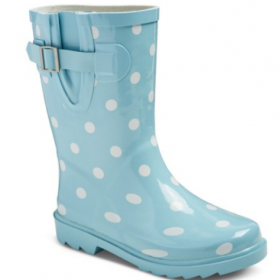 Cat & Jack Girls Polka Dot Rain Boots 65% off
