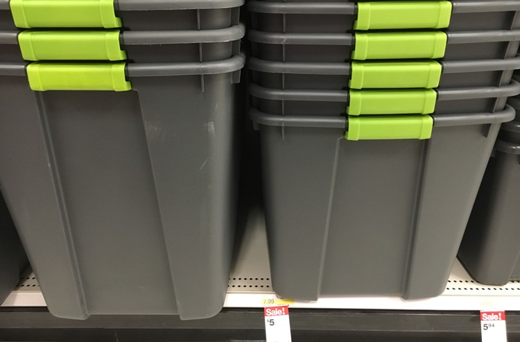 The Sterilite 20 Gallon Latching Storage Tote is on sale at Target.com for only $5.00 (reg $7.99). This is the perfect size to store decor ... & Target Sterilite Storage Tote Sale | All Things Target