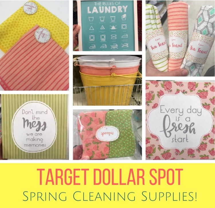 The Target Dollar Spot Is Filled With New Goodies For Easter And Spring,  Including Some Of The Cutest Spring Cleaning Supplies I Have Ever Seen.