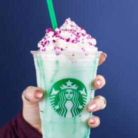Starbucks Crystal Ball Frappuccino Drink