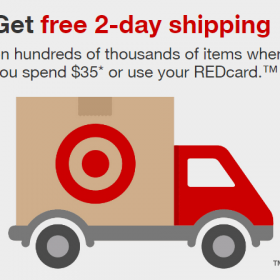 Target Now Offer FREE 2-Day Shipping (with REDCard or $35 Purchase)