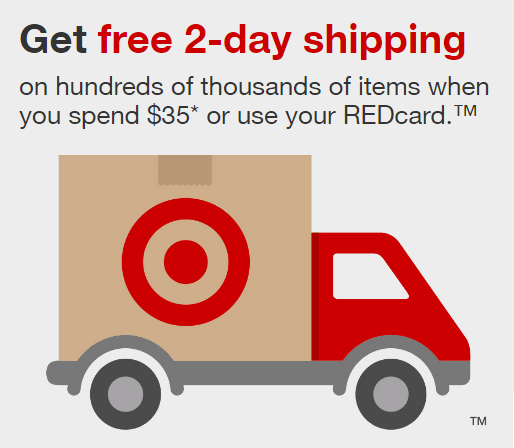 Target Now Offer FREE 2-Day Shipping (with REDCard Or $35
