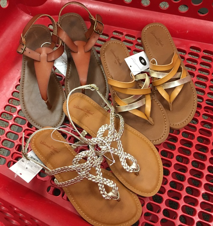 21b937f95 Here is a look at the 3 different styles of sandals available online at  Target.com
