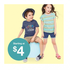 Toddler Tees & Shorts only $4