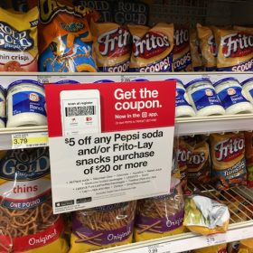 $5 off $20 Pepsi or Frito-Lay Snacks Purchase