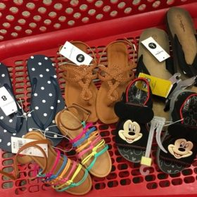 40% off Sandals, Flip Flops and Canvas Shoes at Target