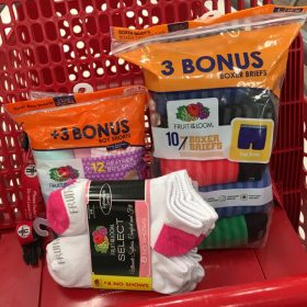 $5 Gift Card With Purchase of 3 Fruit of the Loom Items