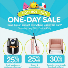 Preview of One Day Sale at Target.com (7/17 only)