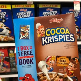 4 Boxes of Kellogg's Cereal & 4 Scholastic Books only $6.07