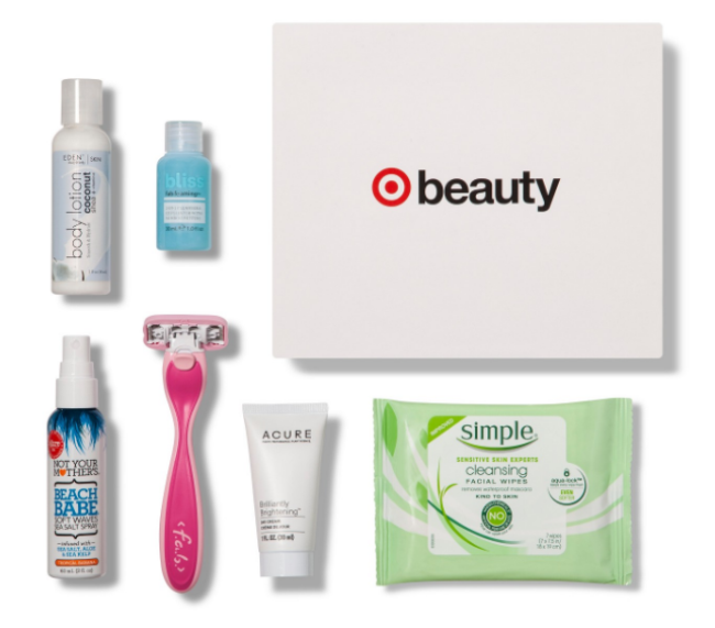 Items found in the Target beauty box.