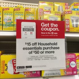 $15 off $50 Household Essentials Purchase + FREE Shipping