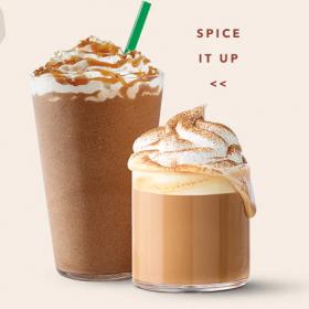 20% off Starbucks Fall Beverages Cartwheel Offer