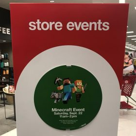 FREE Minecraft Event at Target (9/22 11-2)
