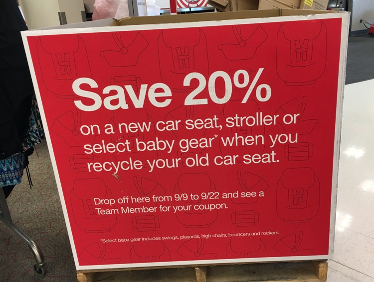There Is Still A Couple Of Days Left To Take Advantage The Target Car Seat Trade In Event Guests Will Receive 20 Off Coupon Good On Your Next